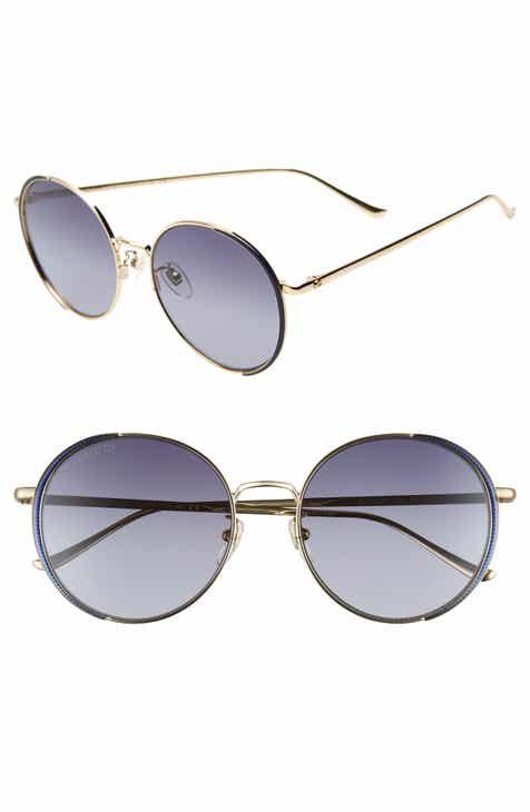 c2051746f76 Gucci 56mm Gradient Round Sunglasses