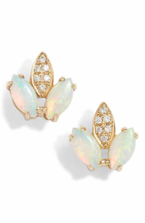 Dana Rebecca Charlie Caroline Opal Stud Earrings