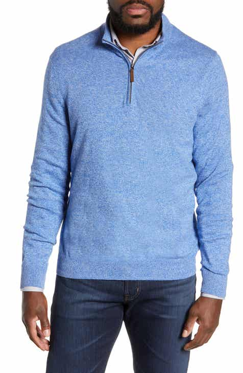 Nordstrom Men s Shop Half Zip Cotton   Cashmere Pullover (Regular   Tall) 9676f5c28
