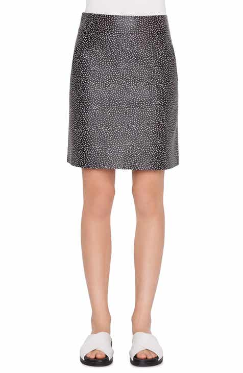 Akris punto Memphis Pastina Print Leather Miniskirt by AKRIS PUNTO