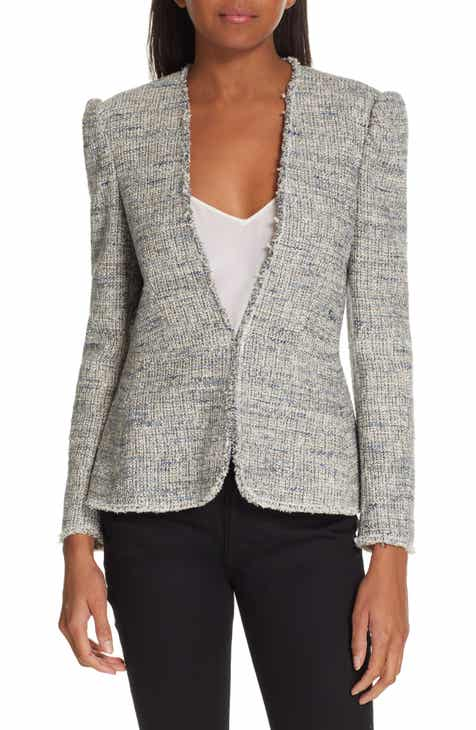 Ming Wang Studded Jacquard Jacket (Plus Size) by Ming Wang