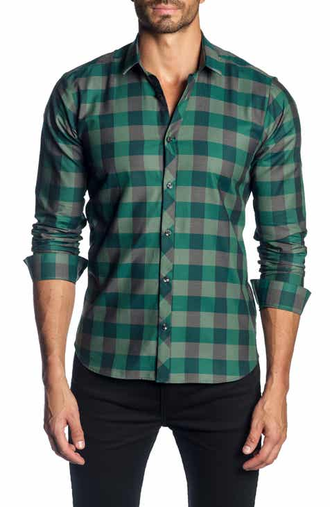 629163215ac Jared Lang Trim Fit Buffalo Check Sport Shirt