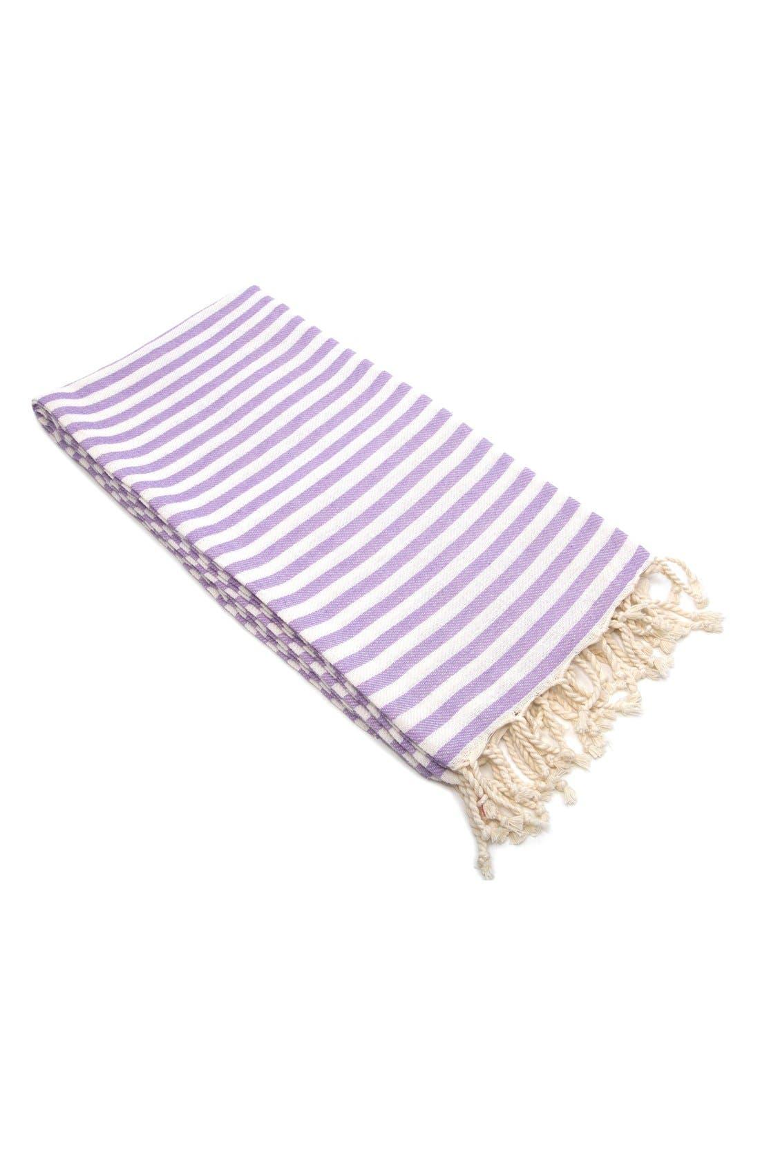 'Fun in the Sun' Turkish Pestemal Towel,                             Main thumbnail 1, color,                             Lilac