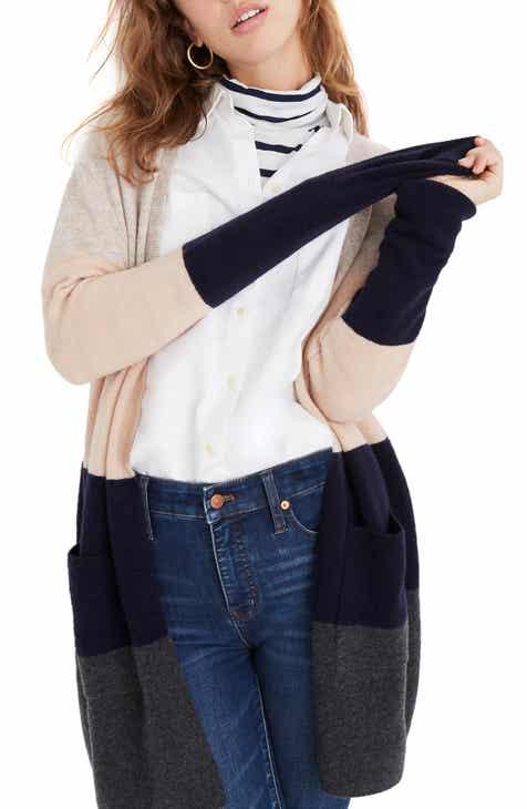 2c09b11db9 Madewell Kent Colorblock Long Cardigan (Regular   Plus Size)