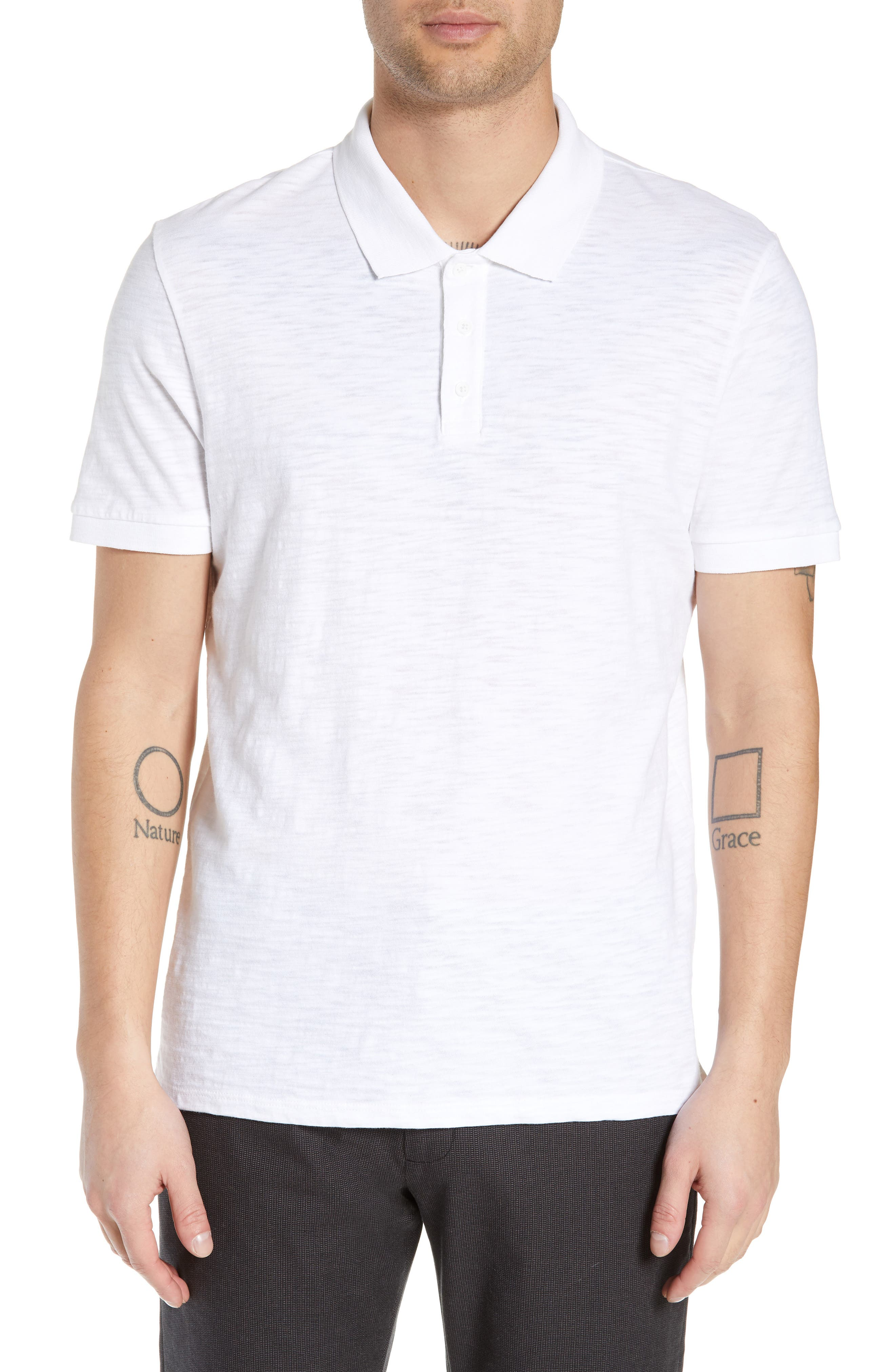 4e01700cc0 ... white t dcbb1 4c2af get vince slub regular fit polo shirt f0f57 3fce2  ...