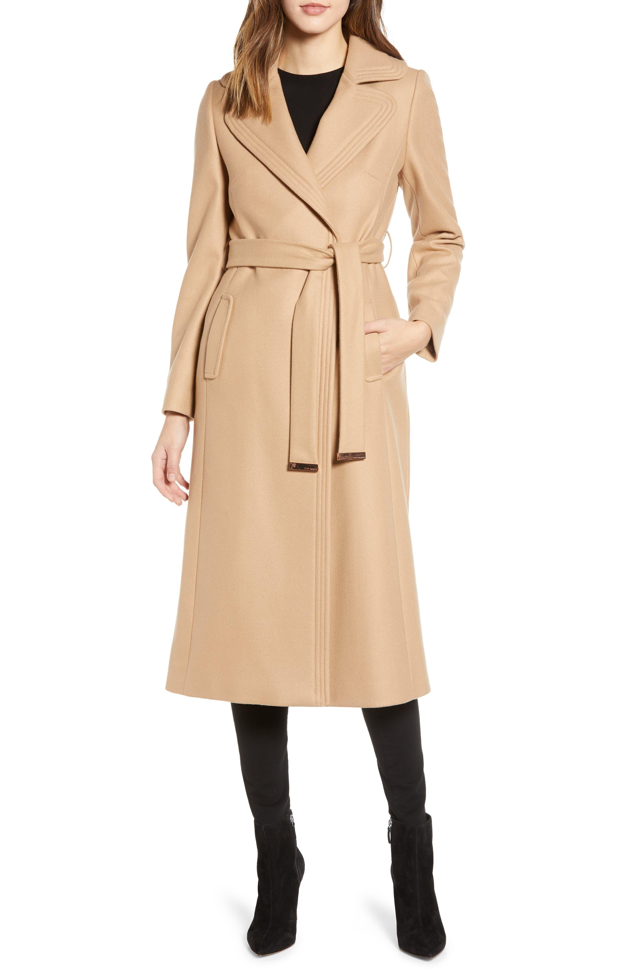 Floor Length Wool Coat