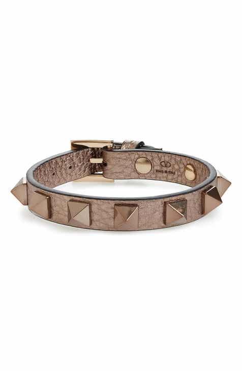 f6273f144685 Valentino Rockstud Small Leather Bracelet