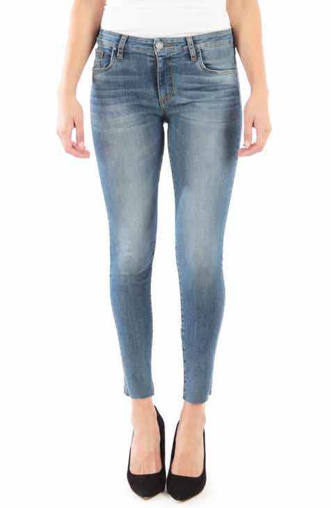 df9db09f115 KUT from the Kloth Donna High Waist Raw Hem Skinny Jeans (Philosophical)  (Regular   Petite)
