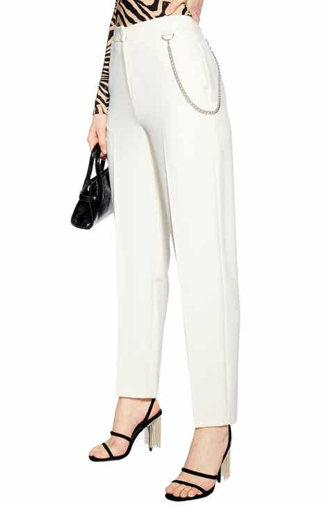 Topshop Chain Clean Peg Trousers by TOPSHOP