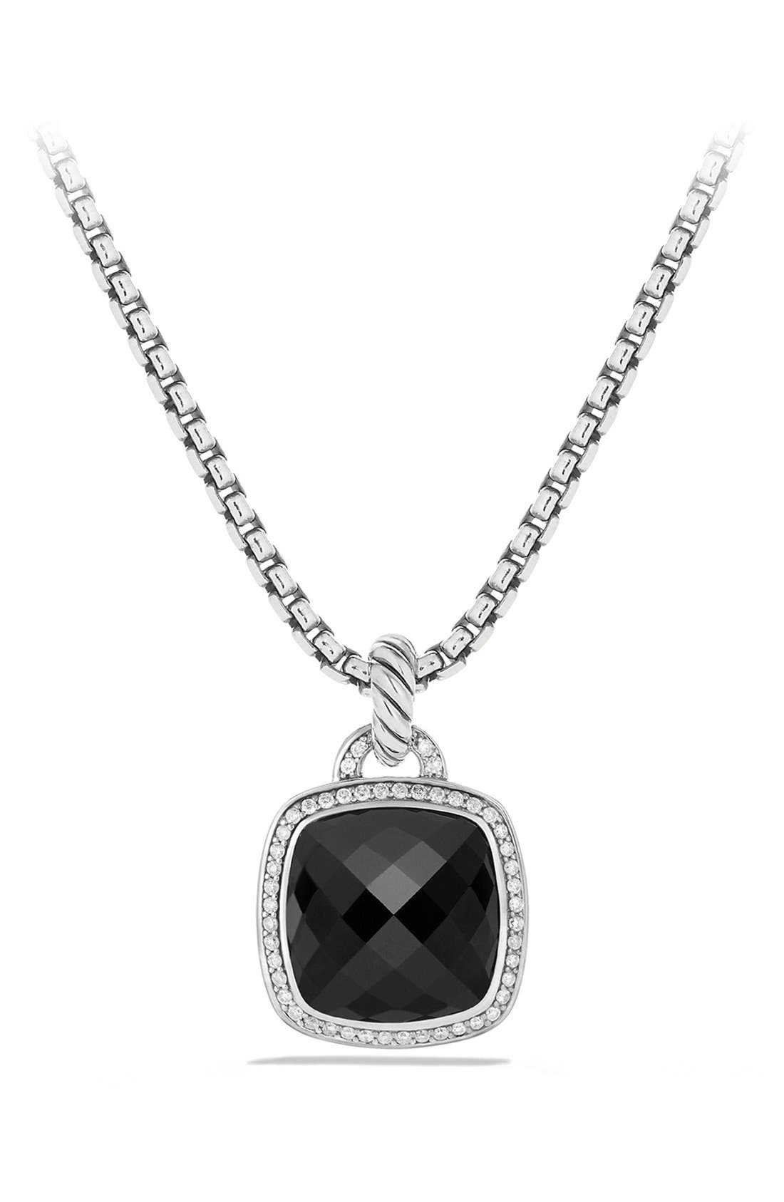 David Yurman 'Albion' Pendant with Semiprecious Stone and Diamonds
