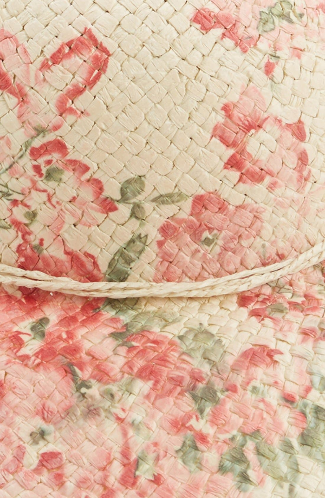 Alternate Image 2  - David & Young Floral Print Floppy Straw Hat