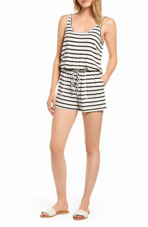 157e016287d Seaside Soft Jersey Lounge Romper (Regular   Petite) (Nordstrom Exclusive)