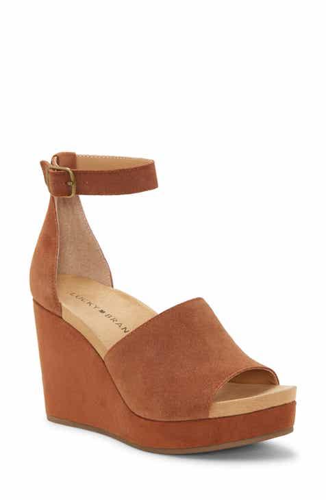 c2d7ef347da0a Lucky Brand Yemisa Wedge Ankle Strap Sandal (Women)