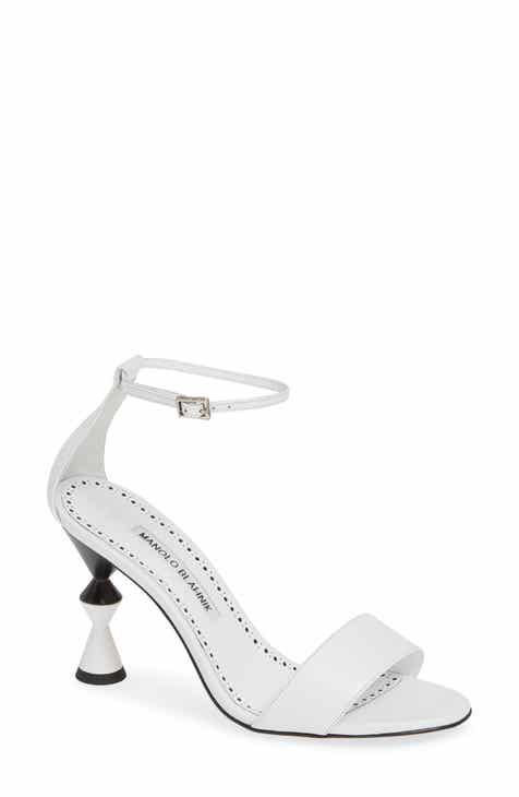 94a627312a6a Manolo Blahnik Leda Ankle Strap Sandal (Women)