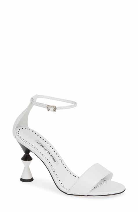 2561335d28ed Manolo Blahnik Leda Ankle Strap Sandal (Women)