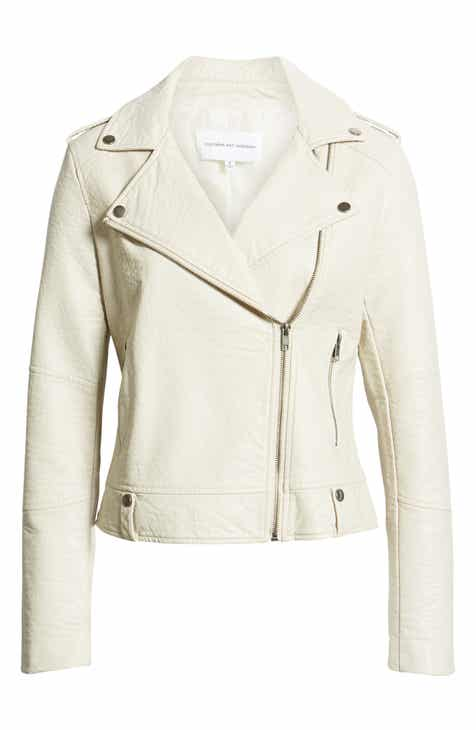 cupcakes and cashmere Vivica Faux Leather Jacket by CUPCAKES AND CASHMERE