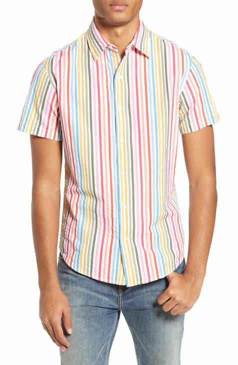 b19003fe967e01 Bonobos Riviera Slim Fit Stripe Seersucker Sport Shirt