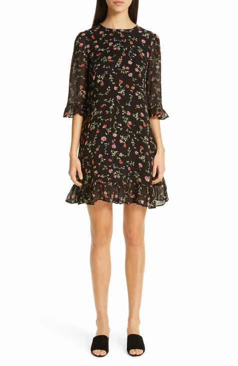 Ganni Floral Print Georgette Dress by GANNI