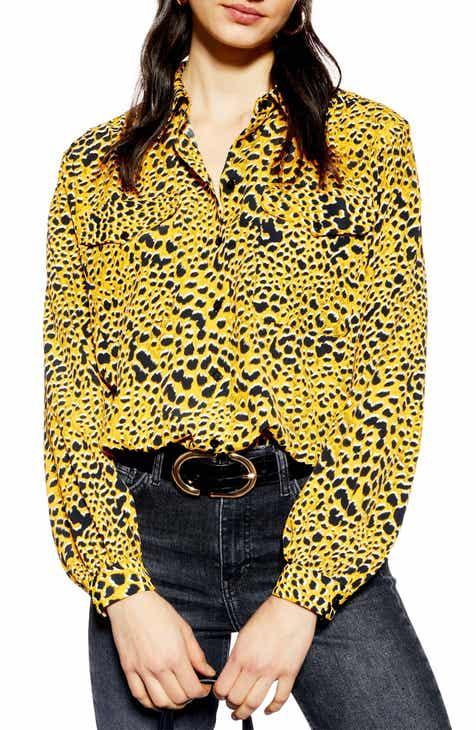 Topshop Leopard Print Shirt 325f3e515