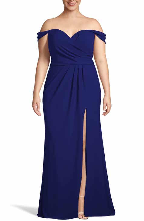 dc770f39c68 Xscape Off the Shoulder Crepe Evening Dress (Plus Size)