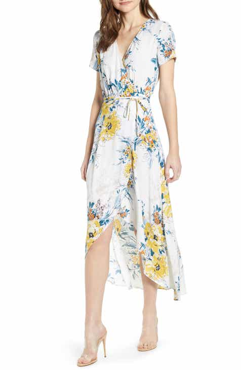 Leith Everyday High/Low Wrap Dress by LEITH