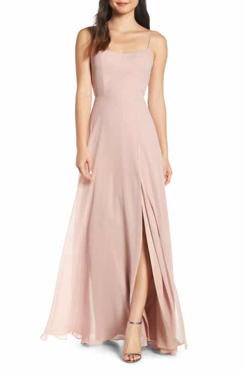 7e63bd1de Jenny Yoo Kiara Bow Back Chiffon Evening Dress