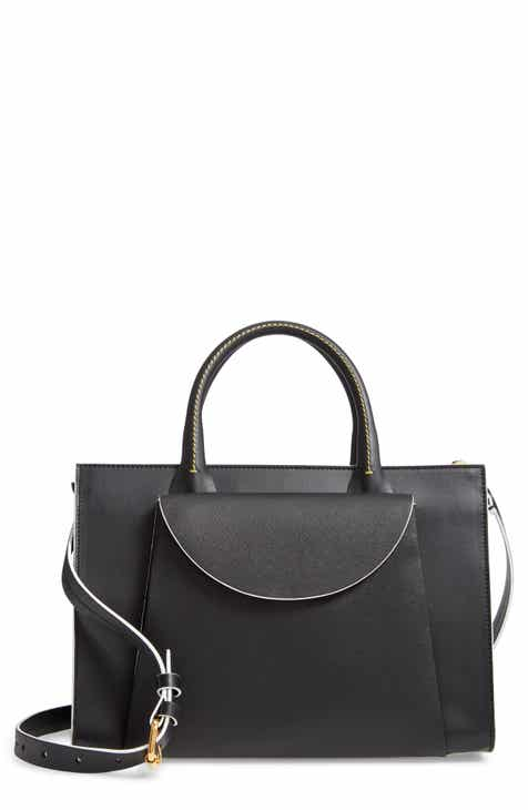 6e36bd14bff3 Marni Large Law Leather Top Handle Satchel