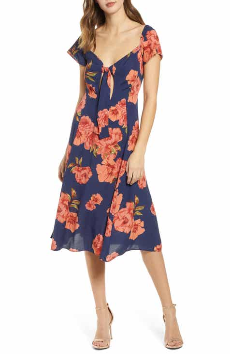 Leith Tie Front A-Line Dress by LEITH