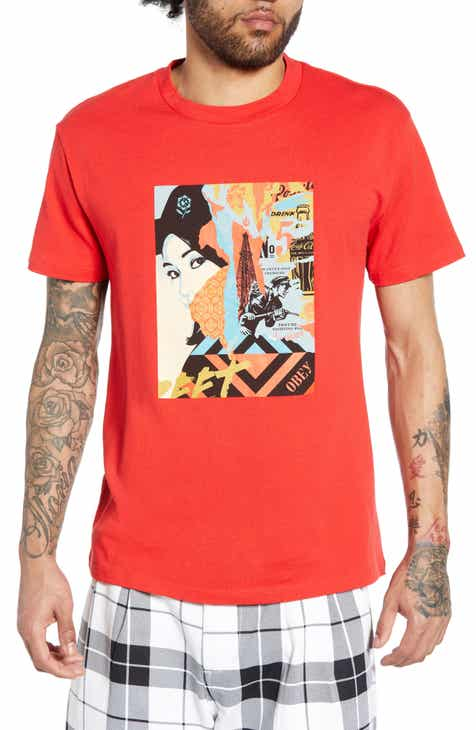 2b447851aa31e Obey Drink Crude Oil Graphic T-Shirt