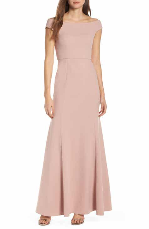14a88611055d Jenny Yoo Larson Off the Shoulder Crepe Evening Dress