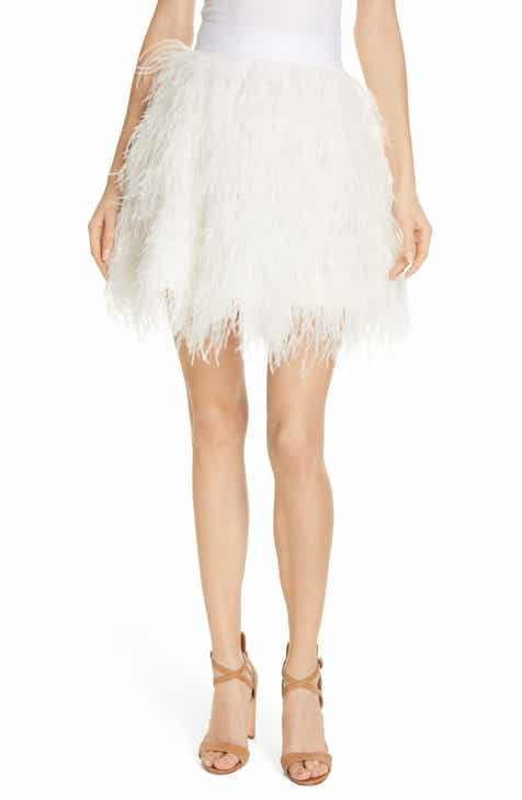 Alice + Olivia Cina Ostrich Feather Skirt by ALICE AND OLIVIA