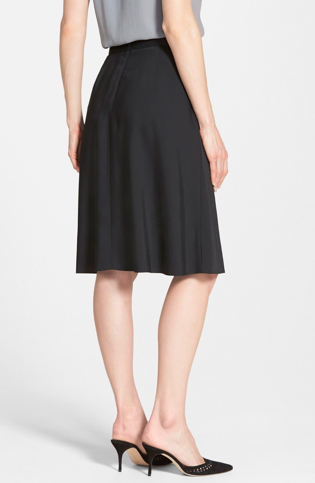 Alternate Image 2  - Classiques Entier® Belted Full Skirt (Regular & Petite)