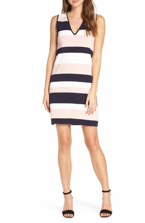6749224eeb9bb2 Eliza J Stripe Sleeveless Sweater Dress