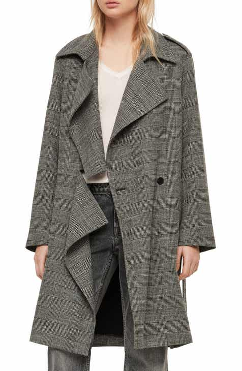 Altuzarra Leather Trim Wool Blend Coat by ALTUZARRA