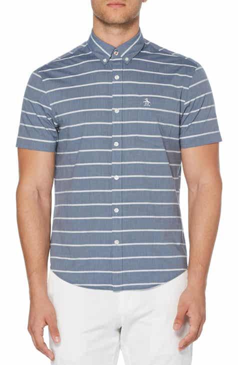 d4233d57 Original Penguin Bouclé Stripe Slim Fit Woven Shirt