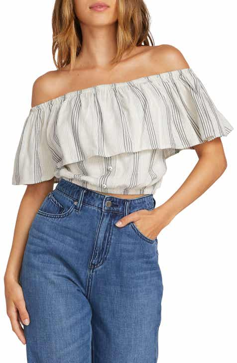 bb29515499c579 Volcom Winding Roads Off the Shoulder Top