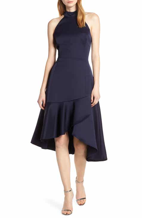 Harlyn Halter High/Low Midi Dress by HARLYN