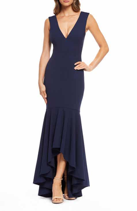 48ee534d4c Dress the Population Demi High Low Mermaid Hem Evening Dress
