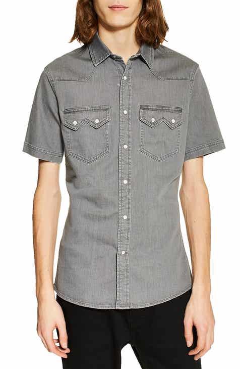 24704147285 Topman Western Denim Shirt