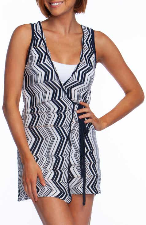 Trina Turk Chevron Wrap Tunic Cover-Up by TRINA TURK