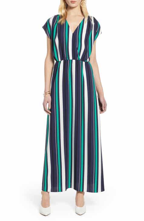 e798b2df9a Halogen® V-Neck Maxi Dress (Regular   Petite)
