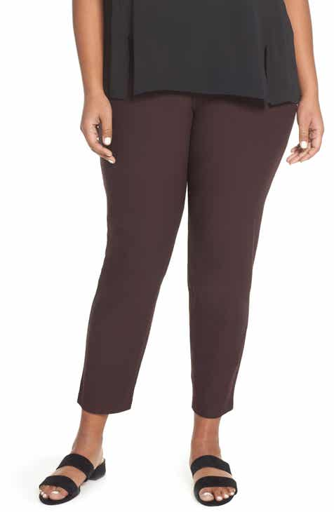 33ac9dbe30b Eileen Fisher Slim Ankle Pants (Plus Size)