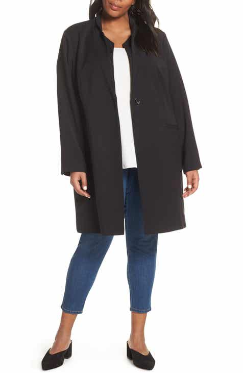 Kenneth Cole New York Inverted Collar Ponte Jacket (Plus Size) by KENNETH COLE NEW YORK