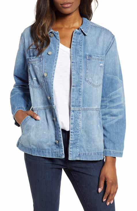 aff8e2cc5d48c6 Wit   Wisdom Distressed Flounce Denim Jacket (Nordstrom Exclusive)