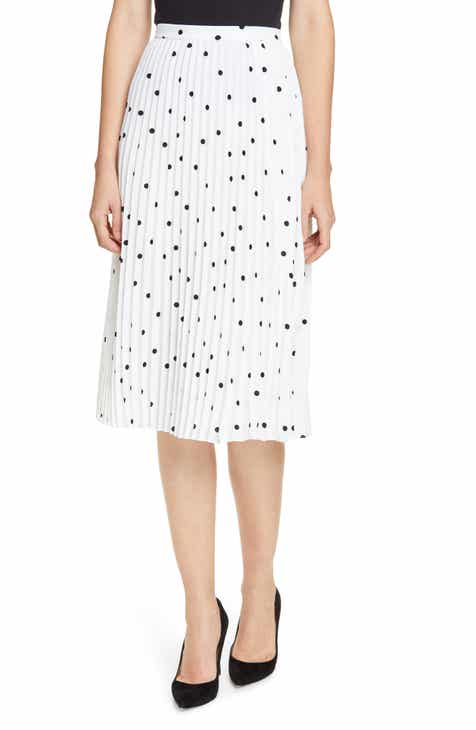 Lewit Polka Dot Pleated Skirt by LEWIT