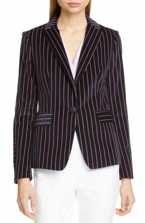 92caf0ed02d9 rag   bone Lexington Stripe Velvet Blazer