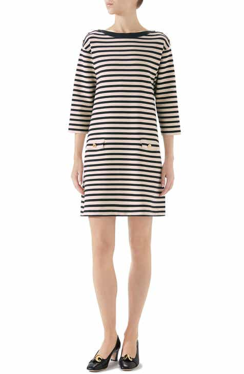 Gucci Stripe Knit Wool Dress
