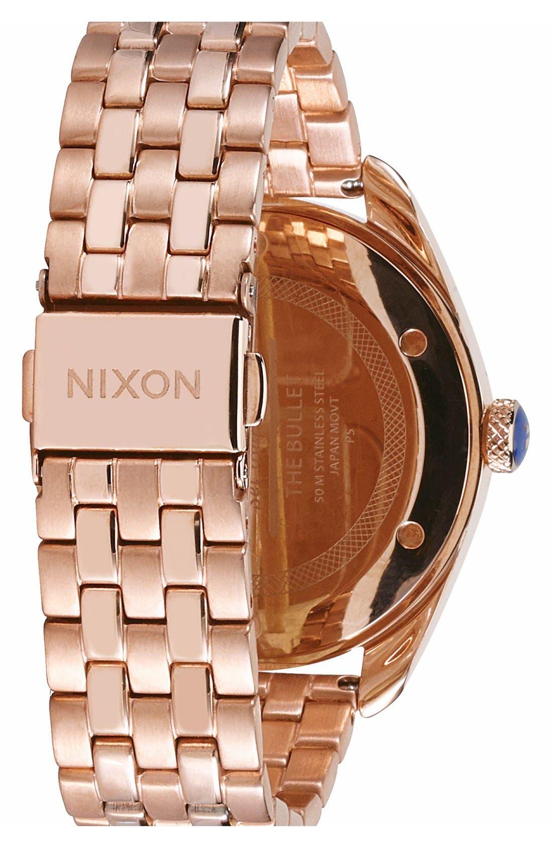 Alternate Image 2  - Nixon 'Bullet' Guilloche Dial Bracelet Watch, 38mm
