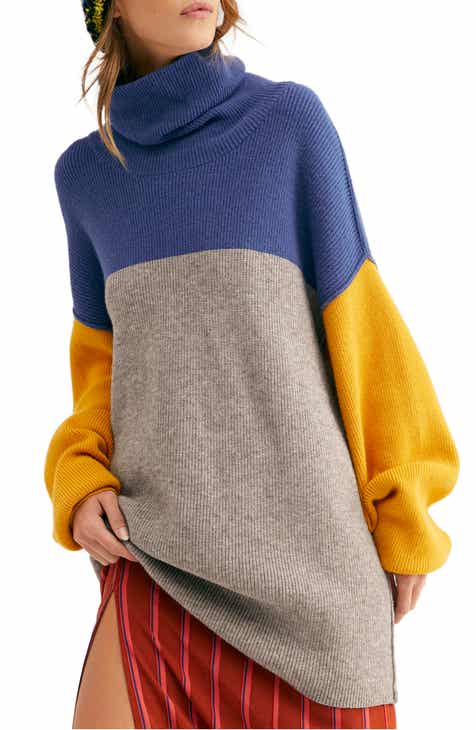 abc5a81bf8 Free People Colorblock Turtleneck Sweater