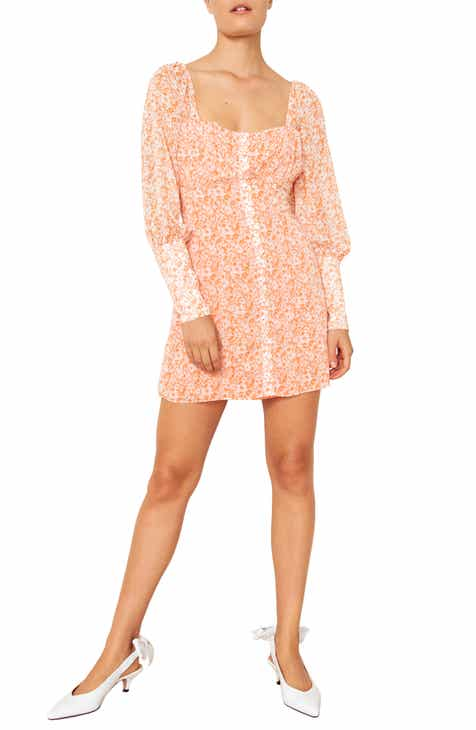 The East Order Peaches Long Sleeve Minidress